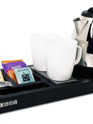 Tablett und Wasserkocher CORBY - schwarz