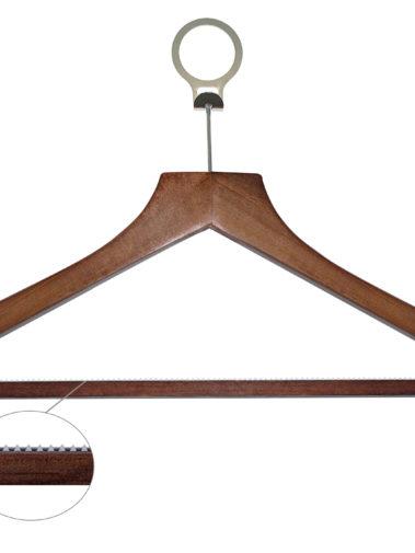 Holz Anti-Diebstahl-Kleiderbügel Basic - dunkles Holz